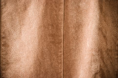 Brown undulating leather Stock Image