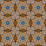 Brown universal vector seamless patterns, tiling. Geometric ornaments. Royalty Free Stock Photo