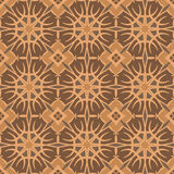 Brown universal vector seamless patterns, tiling. Geometric ornaments. Royalty Free Stock Image