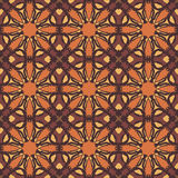 Brown universal vector seamless patterns, tiling. Geometric ornaments. Stock Images