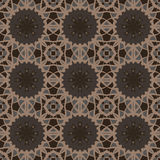 Brown universal vector seamless patterns, tiling. Geometric ornaments. Royalty Free Stock Images