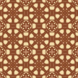Brown universal vector seamless patterns, tiling. Geometric ornaments. Royalty Free Stock Photos