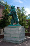 Brown University Bear Statue. stock images