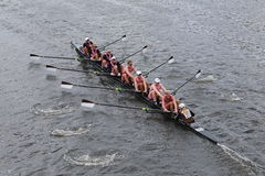 Brown University races in the Head of Charles Regatta Stock Photo