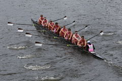 Brown  University races in the Head of Charles Regatta Stock Photos