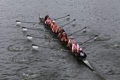 Brown University-rassen in het Hoofd van het Kampioenschap Eights van Charles Regatta Women royalty-vrije stock foto
