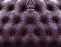 Brown upholstery leather Royalty Free Stock Photo