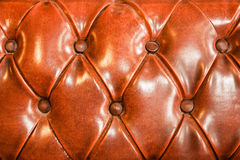 Brown upholstery leather Stock Photography