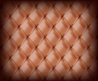 Brown upholstery leather Stock Images