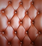 Brown upholstery leather Royalty Free Stock Photography