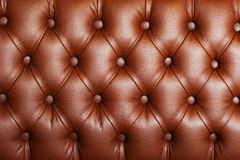 Brown upholstery leather. Pattern background Stock Images