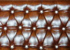 Brown upholstery leather pattern background Stock Photo