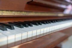 Brown upright piano key Royalty Free Stock Photos