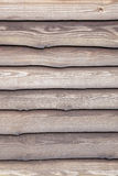 Brown varnished planks on outside of barn Royalty Free Stock Photo