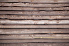 Brown varnished planks on outside of barn Royalty Free Stock Image