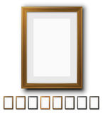 Brown Vector Frames Stock Images
