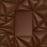 Brown vector geometric background. Royalty Free Stock Images