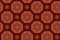 Brown vector geometrical texture with stars Stock Photos