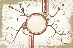 Brown vector grunge label Royalty Free Stock Photos
