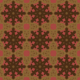 Brown vector seamless patterns, tiling. Geometric ornaments. Royalty Free Stock Photography