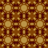 Brown vector seamless patterns, tiling. Geometric ornaments. Stock Image