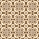 Brown vector seamless patterns, tiling. Geometric ornaments. Stock Photos