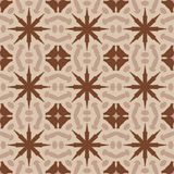 Brown vector seamless patterns, tiling. Geometric ornaments. Royalty Free Stock Images