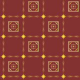 Brown vector seamless texture with squares. Vector brown seamless texture with squares Royalty Free Stock Photos