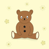 Brown vector teddy. Royalty Free Stock Photography