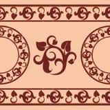 Brown vegetative pattern Stock Photos