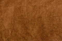 Brown velour texture. Close up.  Royalty Free Stock Images