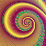 Brown velvet fractal spiral leaf tendril. Royalty Free Stock Image