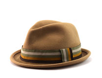 Brown velvet hat Stock Photo