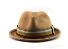 Brown velvet hat Royalty Free Stock Photography