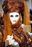 Brown Venetian Costume Royalty Free Stock Photo