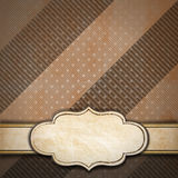 Brown Vintage Background with Label Royalty Free Stock Image