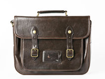 Brown vintage briefcase Stock Image