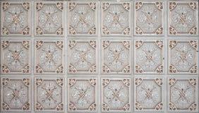 Brown vintage ceramic tiles royalty free stock photos