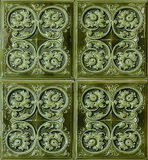 Brown vintage ceramic tiles Royalty Free Stock Photos