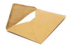 Brown Vintage Envelope Stock Photo