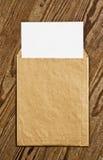Brown Vintage Envelope. Stock Image