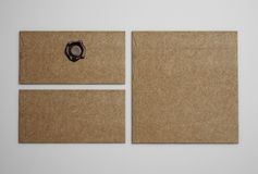 Brown vintage envelopes Stock Photos