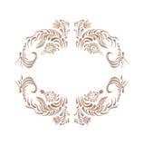 Brown vintage floral vector illustration Stock Photography