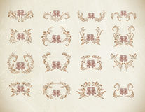 Brown vintage floral vector illustration Royalty Free Stock Images