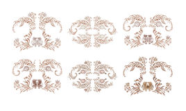 Brown vintage floral vector illustration Royalty Free Stock Photography