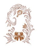Brown vintage floral vector illustration Royalty Free Stock Photo