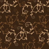 Brown vintage flower pattern Royalty Free Stock Images