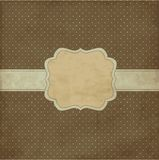 Brown vintage frame Stock Photography