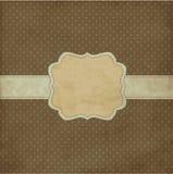 Brown vintage frame. Polka dot design, brown vintage frame Stock Photography