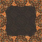 Brown Vintage Invitation Frame Card Stock Photo
